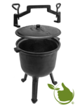 Cast iron hunting kettle 7 liters