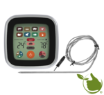 Electronic pin thermometer with LCD touch screen