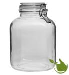 Vierkante glazenpot van 4 liter met klemsluiting