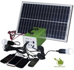 Portable Solar Panel LED Lighting Set 20w with Battery