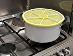 "Lemon stacking lid 9""/23cm from Charles Viancin"