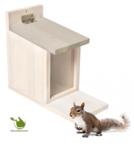 Squirrel feeder house white cottage 27x23x12,5CM