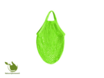 Shopping bag of organic cotton (color green)