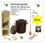 Starter set Sauerkraut making 15 liters (brown classic)
