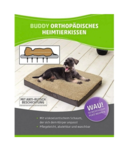 Orthopedic Dog Cushion 100x65x10cm Brown/Beige