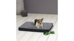 Orthopedic Dog Cushion 79x60x8cm Gray