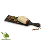 Cheese board Porcelain Black S Length 19.5 cm