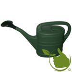 Watering can with spray head 10 Liter Green