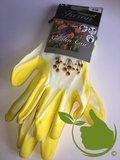 Handschoen Garden Care geel mt.8 (uni)
