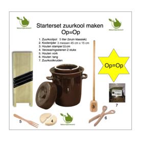 Starter set Sauerkraut making 5 liters (brown classic)