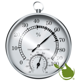 Thermometer / hygrometer (silver)