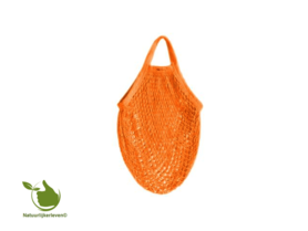 Shopping bag made of organic cotton (color orange)