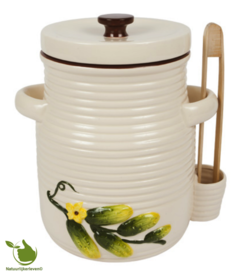 Pickles pot 3 liters (white)