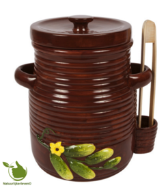 Pickles pot 5 liters (brown)