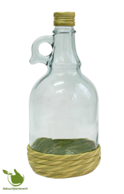 Authentic liqueur bottle made of glass 1 liter