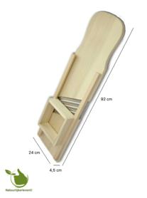 Wooden mandoline (92 x 24 cm) - 4 stainless steel blades.