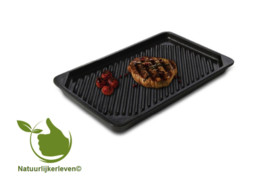 Keramiche-Grill plate - Basalt-Straight