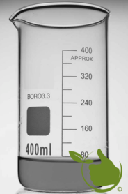 Glass beaker 400 ml graduated high model heat resistant