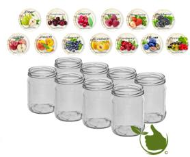 Jam pots 500 ml with twist-off lid (Fruit assorted) 8 in unit