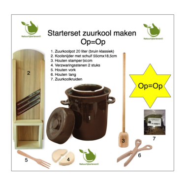 Starter set Sauerkraut making 20 liters (brown classic)