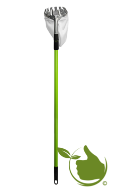 Fruit picker / apple picker with sturdy extendable handle up to 2.40 meters