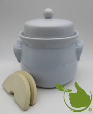 Mini sauerkraut and kimchi crock grey 3 liter