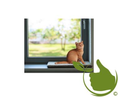 Orthopedic Cat  windowsill cushion 60x25x4cm Gray