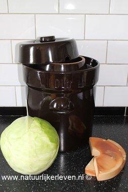 Sauerkraut  fermenting  crock 5 liter