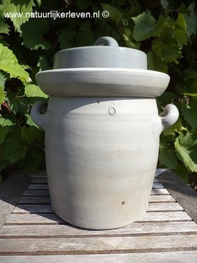 Sauerkraut  fermenting  croc k 6 liter (gray/classic)