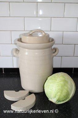 Sauerkraut  fermenting  crock 10 liter (gray/classic)