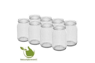 Glass pots 900 ml