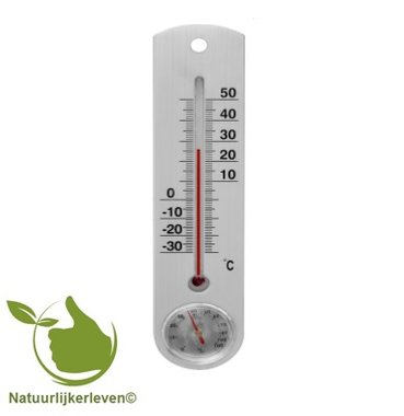 Thermometer for outside or inside