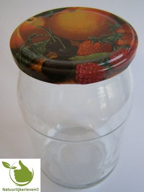 Glass jars 900 ml with twist-off lid (fruit classic) 8 in unit