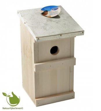 Birdhouse for tits block model galva roof 20x16x23,5cm (white)