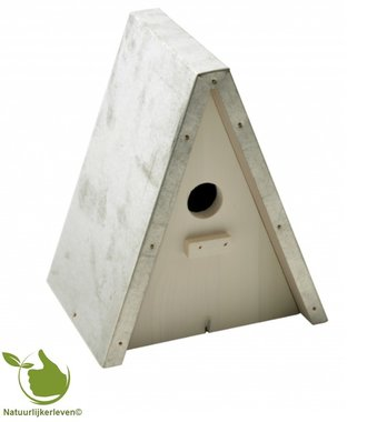 Birdhouse for tits point galva roof model 20x16x23,5cm (white)