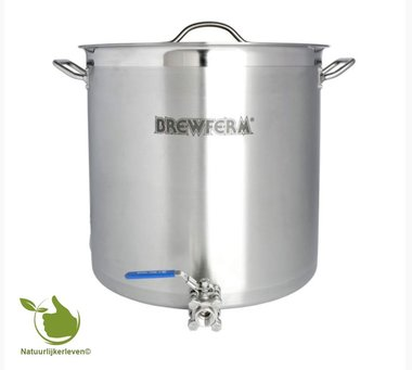 Brewferm homebrew kettle SST 50 l with ball valve (40 x 40 cm)