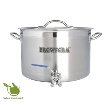 Brewferm homebrew kettle SST 25 l with ball valve (36 x 24 cm)