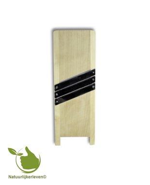 Wooden mandoline (45 x 15 x 2) - 3 stainless steel blades.