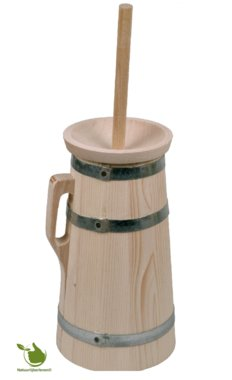 Authentic wooden butter churn manually 3 liters