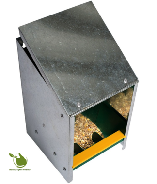 Feeder galvanized with a sloping lid of 2.5 kg