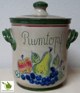 Rumtopf with fruit motif 5 liters