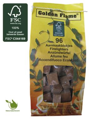 Firelighters FSC brown broken 96 pieces