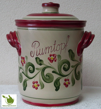 Rumtopf with Red-Green motif 5 liters