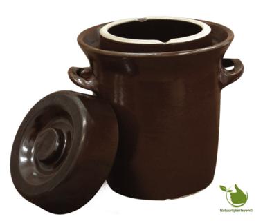 Sauerkraut fermenting crock (brown/classic) 5 liter.