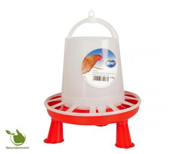 Plastic chicken feeder silo with feet 3KG - 3L
