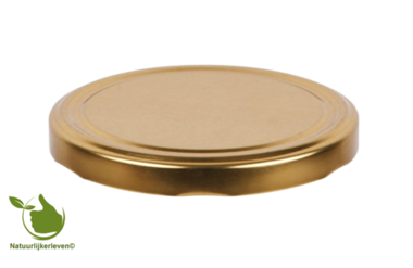 Twist-off lid gold 63 mm