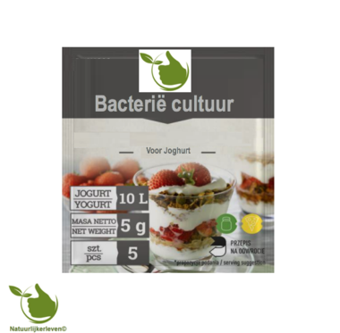 Bacterial cultures for yoghurt, for 10L milk