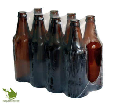 Beer bottle of 0,5 l packed per 8 pcs.