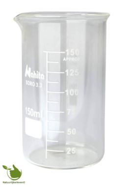 Glass beaker 150 ml graduated heat resistant