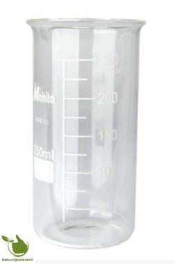 Glass beaker 250 ml graduated heat resistant